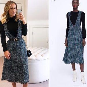 Zara tweed dress sz small